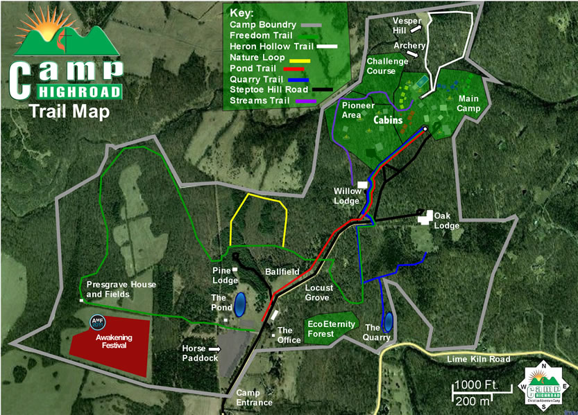 Camp Map - Satellite Overlay